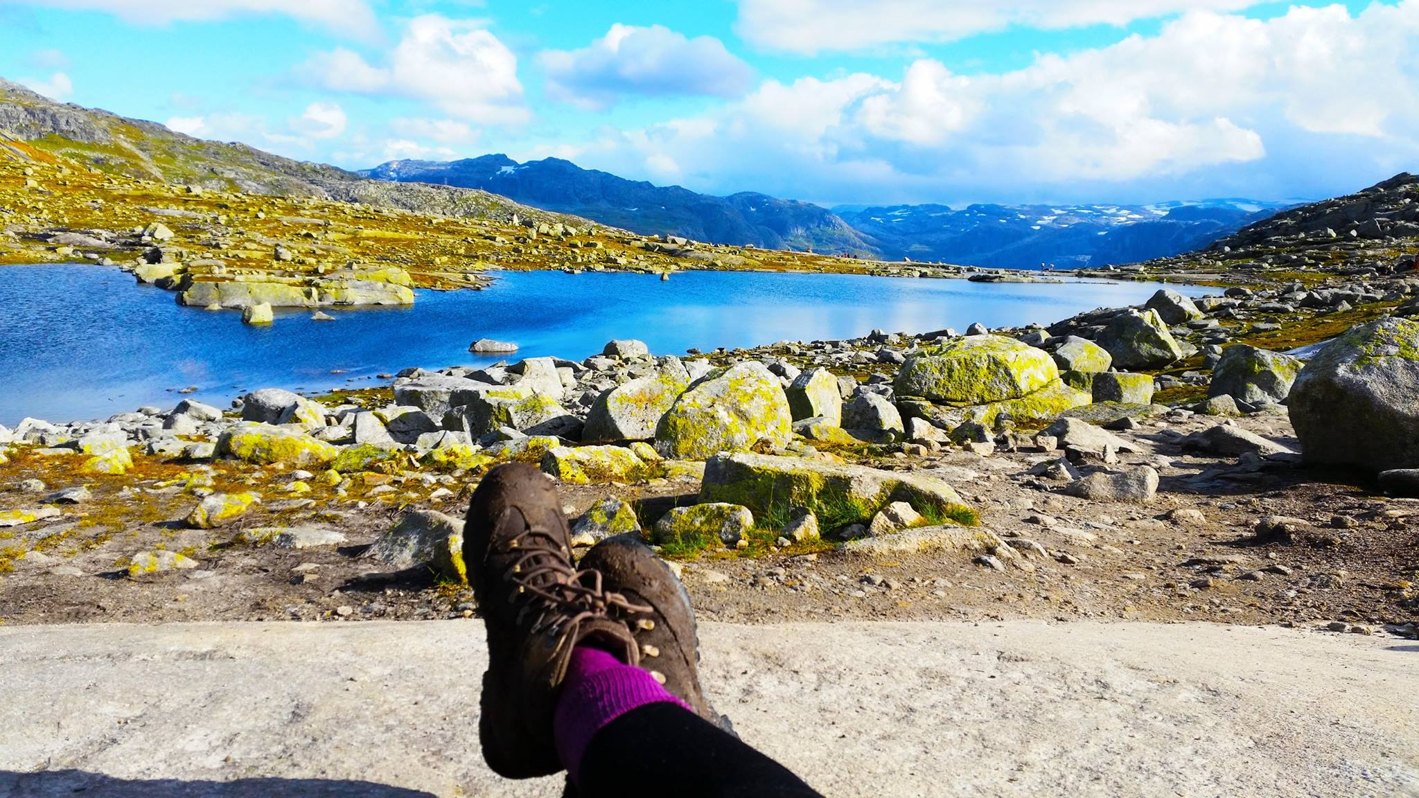 Solo Travel Blog | Backpacking with Bacon | Trolltunga Feet