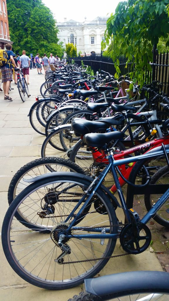 Bike Rack | Backpacking in Cambridge | Backpacking with Bacon