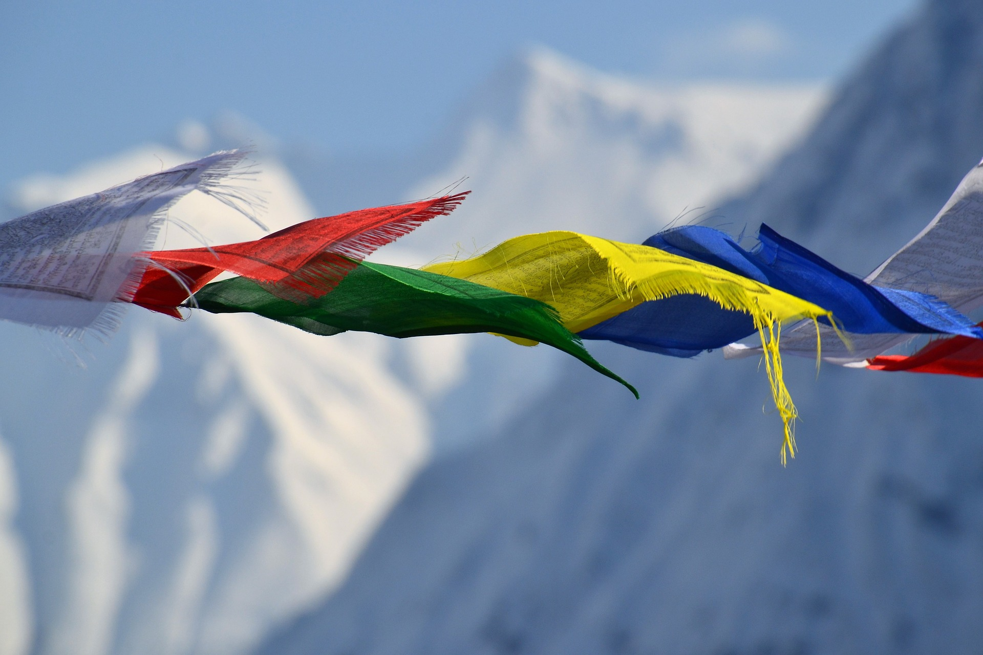 Colourful Flags | Backpacking with Bacon | Backpacking in Nepal