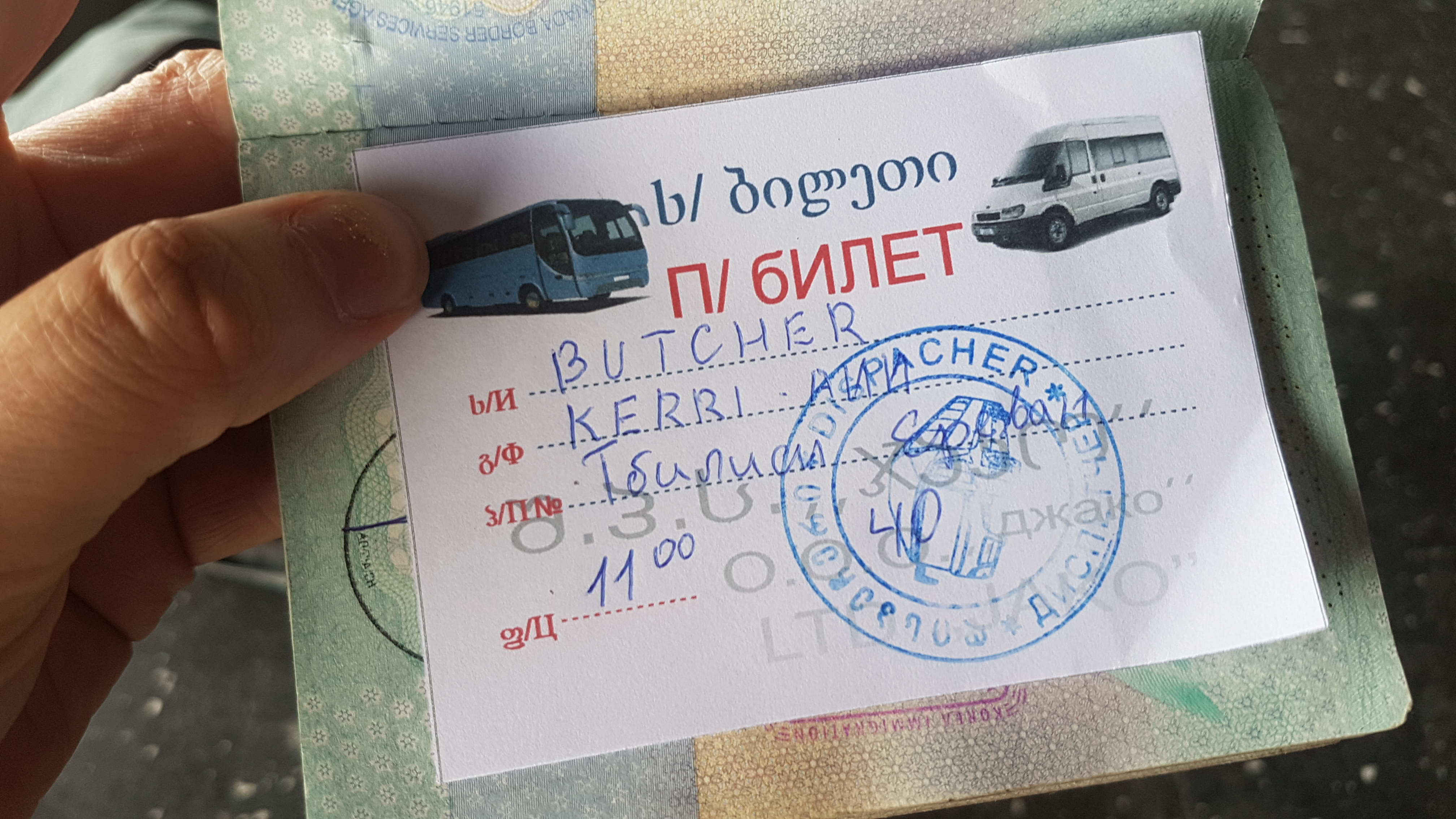 Ticket   How to Get From Tbilisi to Yerevan   Backpacking with Bacon