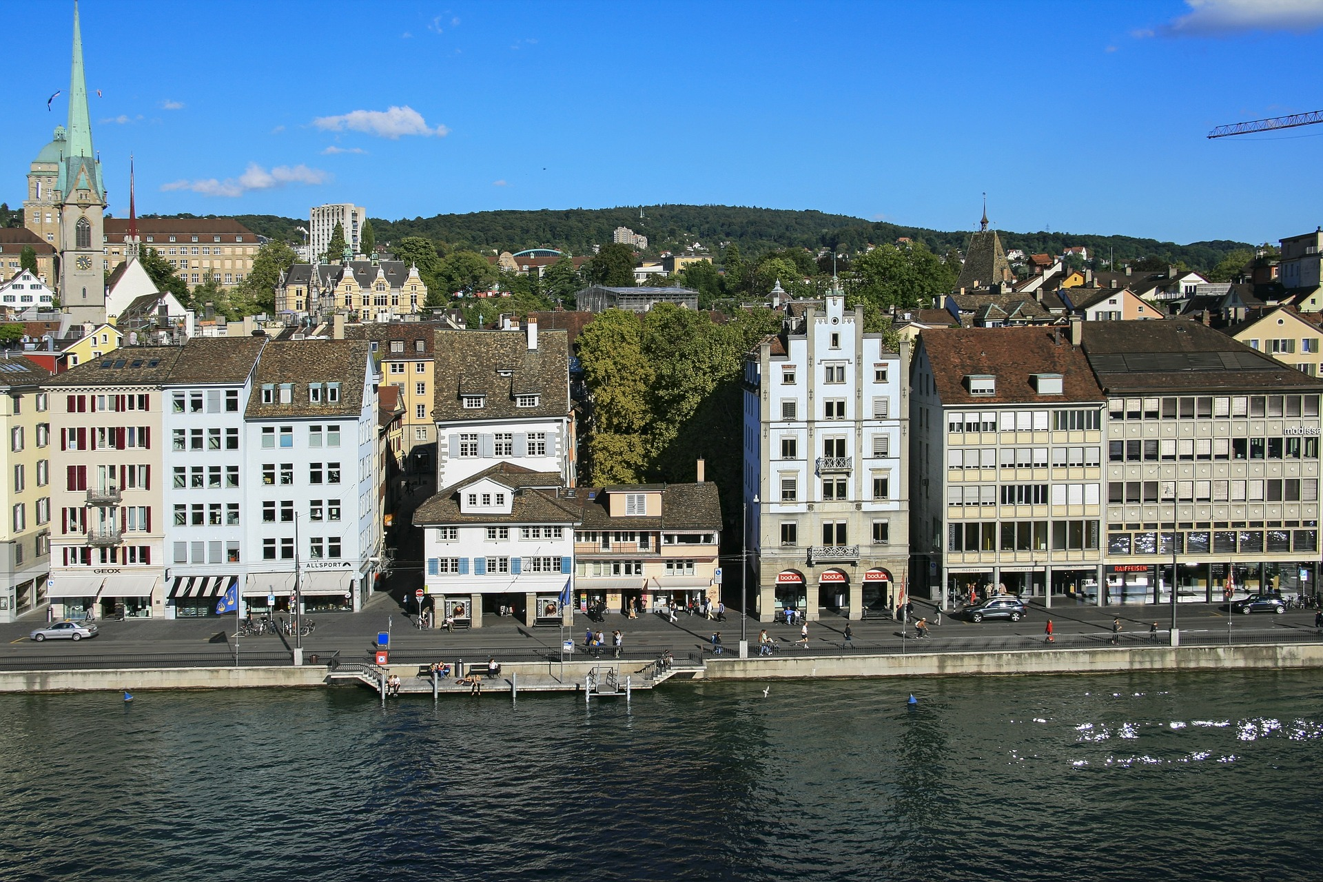 Zurich River Switzerland | Backpacking with Bacon | Backpacking in Switzerland