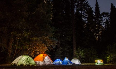 Tents at night | Camping tips | Backpacking with Bacon