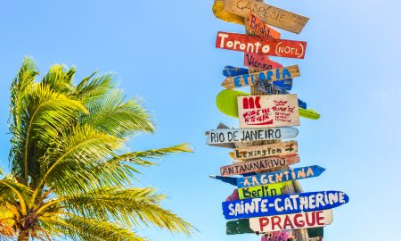 Travel signpost | Turning Vacay Dreams Into A Reality | Backpacking with Bacon