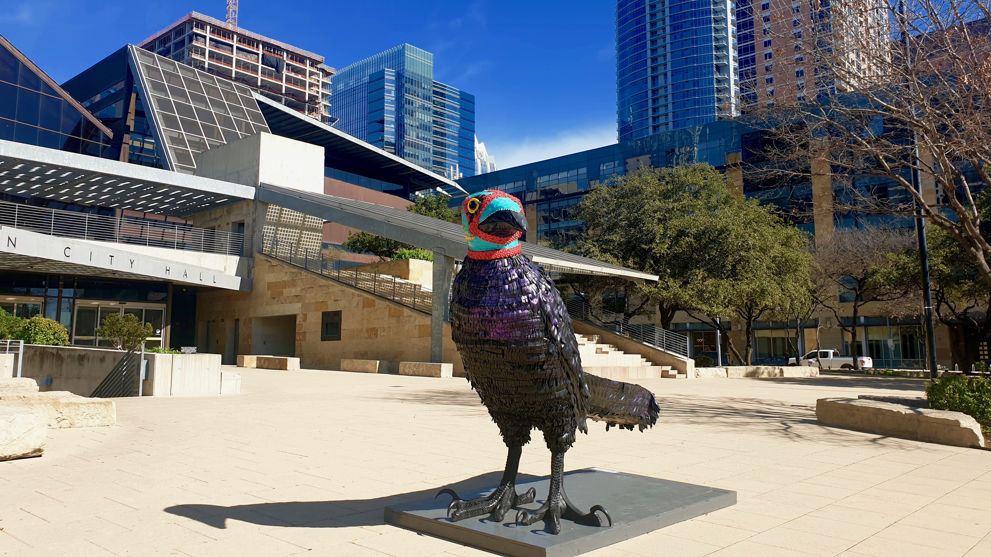 Austin Statue | Backpacking with Bacon | Solo Travel Blog
